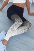 Grey Milk Silk Elastic Fly High Gradient Skinny Pants Bottoms