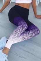 purple Milk Silk Elastic Fly High Gradient Skinny Pants Bottoms
