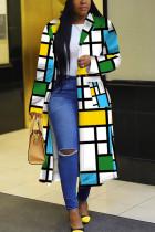 Blue Street Print Outerwear