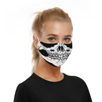 Black White Fashion Casual Print Face Protection