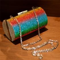 Colorful Fashion Patchwork Chain Strap Crossbody Bag