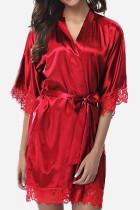 Red Sexy Fashion Loose Lace Nightdress