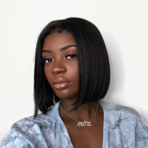 Black Fashion Casual Short Hair Hood