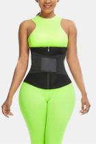 Black Fashion Casual Sportswear Zipper Design Bustiers