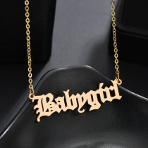 Gold Fashion Splicing Letter Necklaces