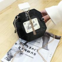 Black Fashion Casual Letter Patchwork Crossbody Bag