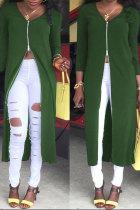 Green cardigan Three Quarter Solid  Sweaters & Cardigans