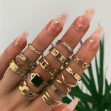 Gold Fashion Street Solid Rings