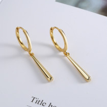 Gold Fashion Simplicity Solid Earrings