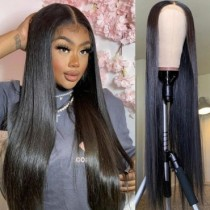 Black Fashion Solid High-temperature Resistance Wigs
