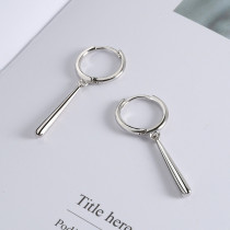 Silver Fashion Simplicity Solid Earrings