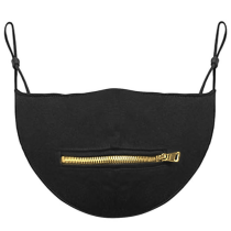 Gold Casual Street Patchwork Solid Mask