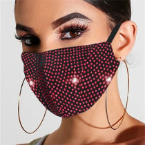 Red Fashion Casual Hot Drilling Mask