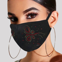 Black Red Fashion Casual Hot Drilling Mask