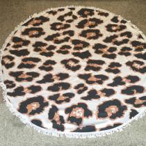 Leopard Print Casual Party Print Tassel Split Joint Beach Mat