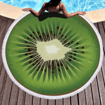Green Casual Party Print Tassel Split Joint Beach Mat