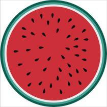Watermelon Red Casual Party Print Tassel Split Joint Beach Mat