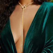 Gold Fashion Patchwork Necklaces