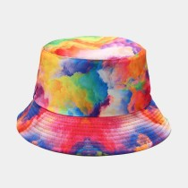 Colour Casual Street Patchwork Tie-dye Hat