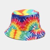 Multicolor Casual Street Patchwork Tie-dye Hat