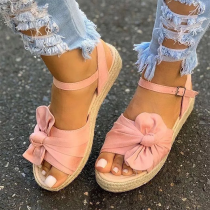 Pink Casual Hollowed Out Split Joint Opend Out Door Shoes
