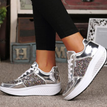 Silver Fashion Casual Split Joint Out Door Shoes
