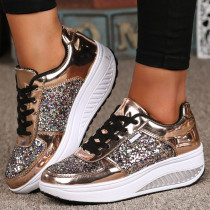 Gold Fashion Casual Split Joint Out Door Shoes