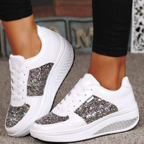 White Fashion Casual Split Joint Out Door Shoes