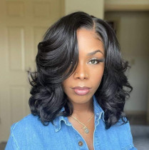 Black Fashion Casual Solid Long Bangs And Curly Hair