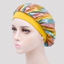 Gold Casual Living Print Split Joint Hat