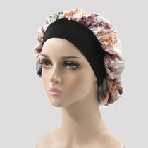 White Casual Living Print Patchwork Confinement Hat