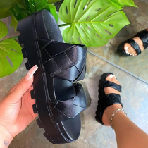 Black Casual Street Split Joint Opend Out Door Shoes