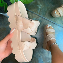 Apricot Casual Street Split Joint Opend Out Door Shoes