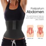 Black Fashion Solid Color Women Slim Waist Belt Abdomen Tops