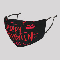 Black Red Fashion Casual Print Split Joint Mask