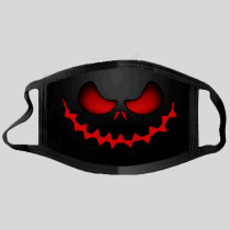 Red Street Punk Print Split Joint Mask