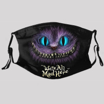 Black Purple Street Punk Print Split Joint Mask