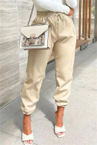 Apricot Fashion Casual Solid Basic Regular High Waist Trousers