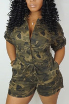 Camouflage Fashion Casual Rompers