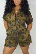 CamoYellow Fashion Casual Rompers