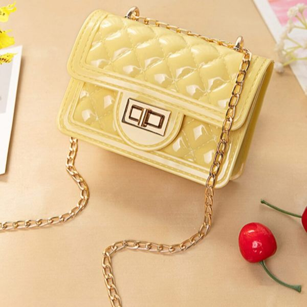 Yellow Fashion Casual Chain Strap Crossbody Bag