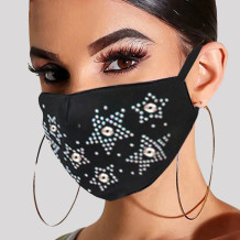 Black White Fashion Casual Hot Drilling Mask