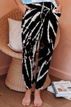 Black Pink Sky Blue Powder blue Polyester Elastic Fly Mid Print Harlan pants Pants Bottoms