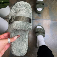 Green Casual Sweet Split Joint Opend Keep Warm Comfortable Shoes