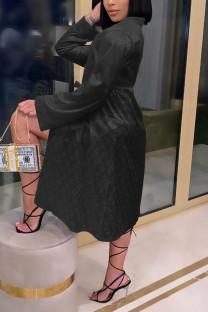 Black Fashion Sexy Print Nightdress