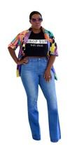 As Show Multi Casual Turn-down Collar Regular Full Print Regular Blouses & Shirts