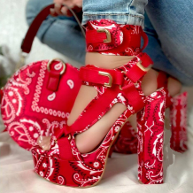 Red Casual Street Hollowed Out Split Joint Opend Out Door Shoes