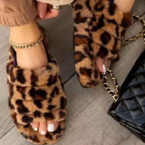 Leopard Print Fashion Casual Round Comfortable Shoes