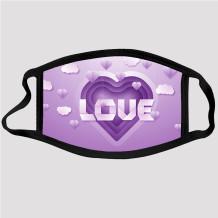Purple Fashion Casual Print Dustproof Face Protection