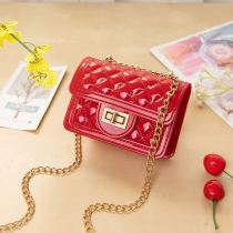 Red Fashion Casual Chain Strap Crossbody Bag